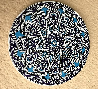Traditional Turkish Ceramic Plates Dish 16Cm Handmade Ottoman Designs Set Of 3