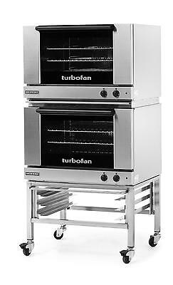 Moffat E27M3/2C Turbofan Dual Electric 3 Full Pan Convection Oven w/ Casters