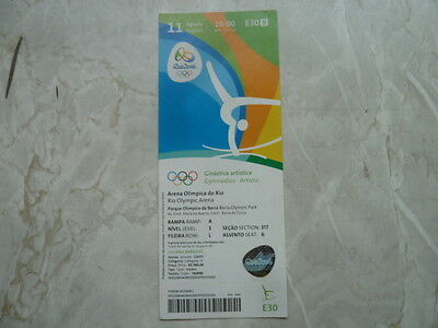 Used Ticket Olympic Games 2016 Olympia E30 Gymnastics Artistic Turnen Gold USA