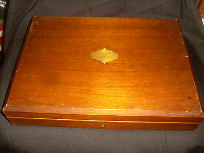 Fine Quality Antique Wooden Cutlery Box, Canteen - Box Only