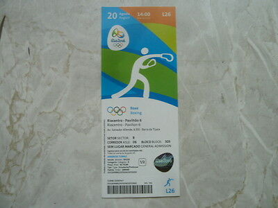 Used Ticket Olympic Games 2016 Olympia L26 Boxing Boxen Gold 2x Cuba
