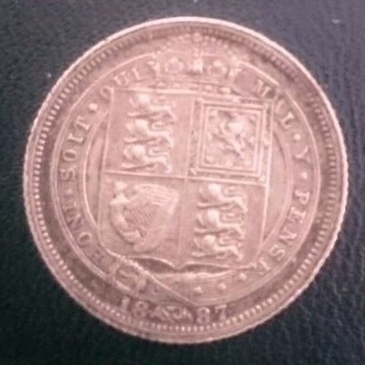 1887 Extremely Fine Sixpence - Queen Victoria - Withdrawn Type