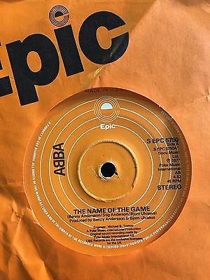 "ABBA - THE NAME OF THE GAME  b/w  I WONDER  (1977)  7"" vinyl single"