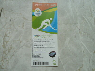 Used Ticket Olympic Games 2016 Olympia R28 Hockey Netherlands Great Britain Gold