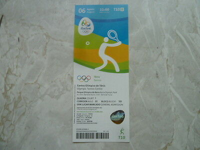 Used Ticket Olympic Games 2016 Olympia T10 Tennis 06.08.2016