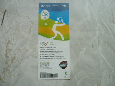 Used Ticket Olympic Games 2016 Olympia T31 Tennis 07.08.2016