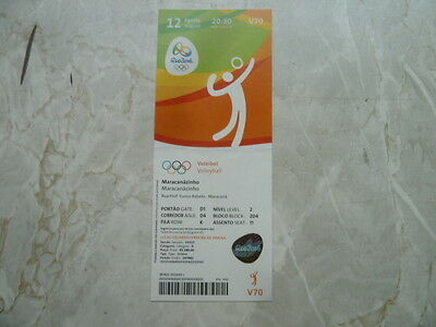 Used Ticket Olympic Games 2016 Olympia V70 Volleyball Russia Japan Brazil Korea