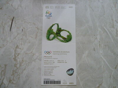 Used Ticket Olympic Games 2016 Olympia M85 Opening Ceremony Eröffnungsfeier