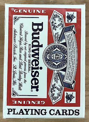 Budweiser King of Beers Deck of Playing Cards US Playing Card Co. New Sealed