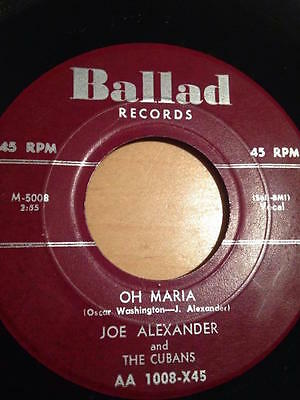 Joe Alexander-Oh Maria/I Hope These Words Will Find (Ballad) Chuck Berry R&B 45