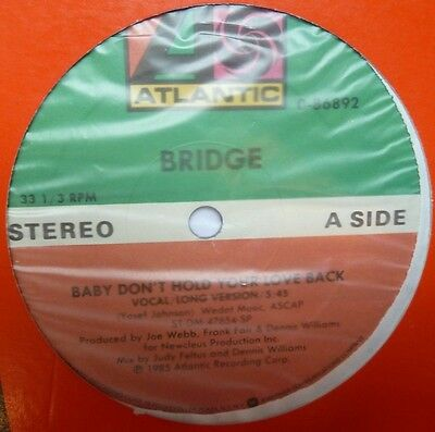 "Bridge - Baby Don't Hold Your Love Back - 12"" Vinyl"