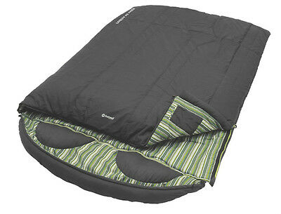 Outwell Camper Double Green Stripe Sleeping Bag