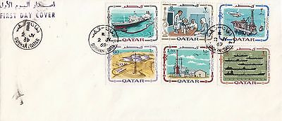 Q 1124 Qatar July 1969 Oil Industry First Day Cover; Dukhan cds