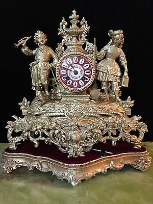 19th century french ormolu bracket clock on a plinth
