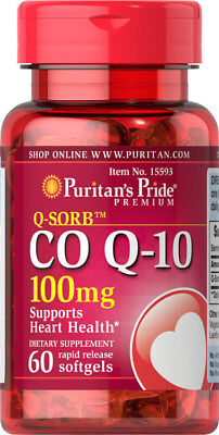 Coenzyme Q10 100mg 60 Capsules - Puritans Pride Heart Supports