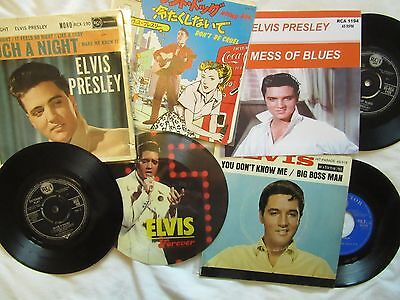 """lot o 5 ELVIS PRESLEY 45RPM.  Picture sleeve 7"""""""