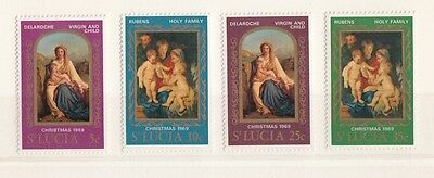 St. Lucia 1969 Natale 255-58  MNH