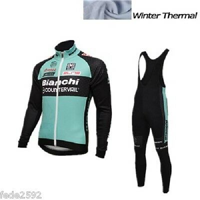 Completo Invernale/Cycling Jersey and pants Winter 2016 Bianchi