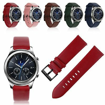 Luxury Leather Watch Wrtist Strap Band For Samsung Gear S3 Classic/Frontier 22mm
