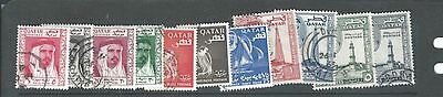 Middle East Qatar Quatar vfu first stamp set Sc 26-36 complete - nice cancels