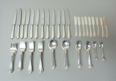 Gorham PLYMOUTH Sterling Silver Luncheon / Place 81-Piece Flatware Set, Mono. M