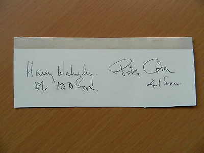 Harry Walmsley DFC & Peter Cowell DFC Ex Print Clipped signatures