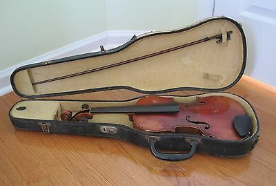 """Vintage Violin """"Stainer"""" Lifton Case Bow Needs Repair"""