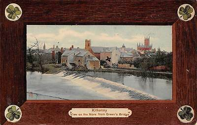 Kilkenny, View on the Nore from Green's Bridge, shamrocks, The Milton