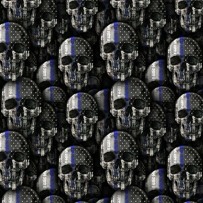 Hydrographic-Water Transfer-Hydrodipping-Film-Hydro Dip- Blue Line Skulls