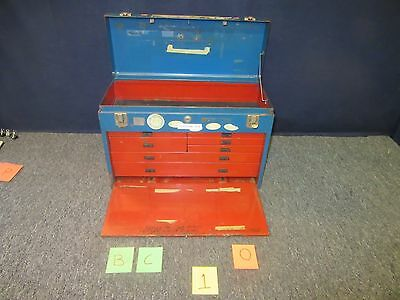 Kennedy Tool Box Blue Artillery Kit Container Drawer Metal Chest Tray Used