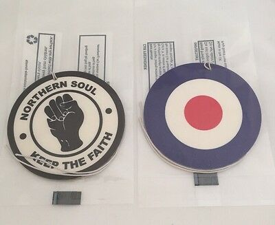 Northern Soul And Mod Air Fresheners Gift Mod Car Tree