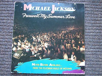 """MICHAEL JACKSON Farewell My Summer Love LP Motown 1984 UK with poster 21"""" by 24"""""""