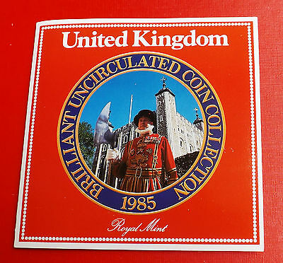 1985 Brilliant Uncirculated Coin Set With All Packaging Ideal Birthday Gift