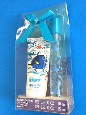 Disney Finding Dory Gift Set for Kids Roll On Perfume Shower Gel New with Bow