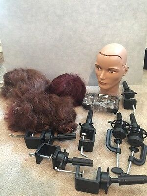 Pivot Point Cosmetology Mannequin With Hair And Clamps - Lot