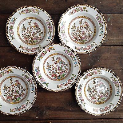 "5 X VINTAGE WASHINGTON POTTERY 'INDIAN TREE' 9"" Soup Plate"