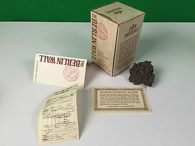 Authentic Berlin Wall Cuts With Declaration of Authenticity & Origin in Box