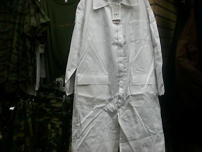 White Mens Unlined Coverall Jumpsuit Flightsuit Painter Made In Usa Size Xlarge