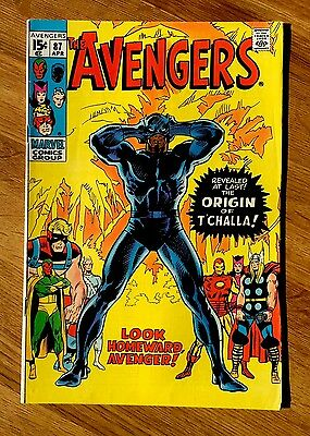 Avengers 87 FN 6.0 Unrestored Origin Black Panther