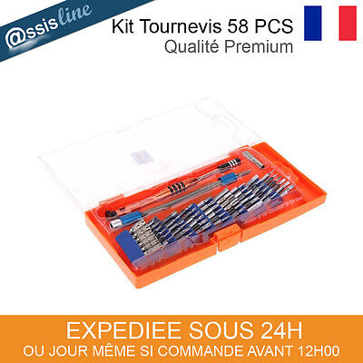 Kit Outils Tournevis Aimante Galaxy Tab 2 3 4 Asus Reparation Tablette -58 Pces