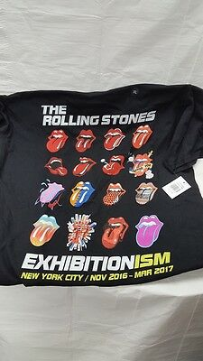Rolling Stones Exhibitionism NYC 2016 Tshirt New With Tags Black Size XL