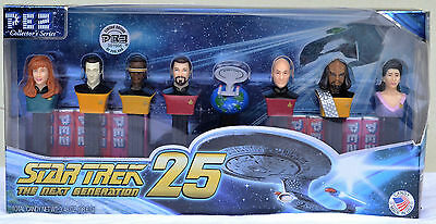 Star Trek 25th Anniversary PEZ Collector's Series Limited Edition Dispensers