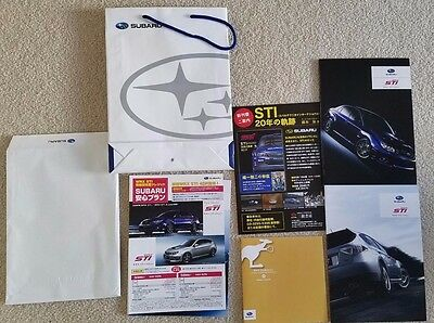 Subaru WRX STI 2010 Japanese JDM Brochures Literature Complete from Japan