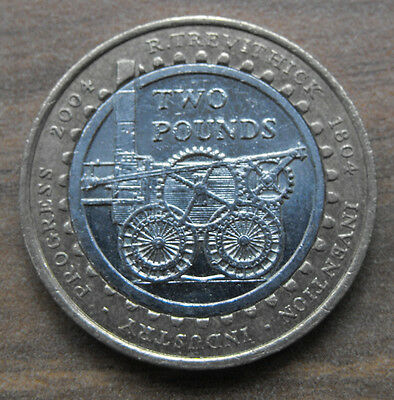 200TH ANNIVERSAY OF THE FIRST STEAM LOCOMOTIVE Commemorative £2 Two Pound Coin