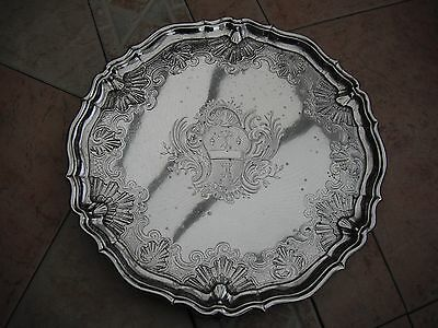 Georgian, George II Silver salver, 1737, George Hindmarch 25 troy ounces