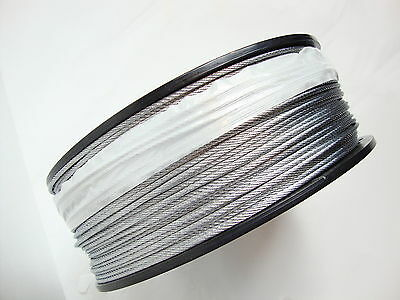 "Galvanized Wire Rope Cable 5/32"", 7x19: 100, 200, 250, 500 and 1000 Ft"