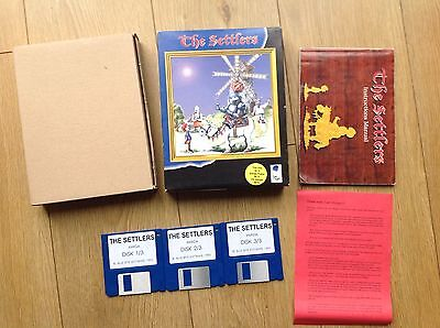 The Settlers Game Commodore Amiga Boxed Blue Byte Tested
