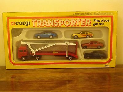 Corgi Juniors Car Transporter With 4 Cars J3124