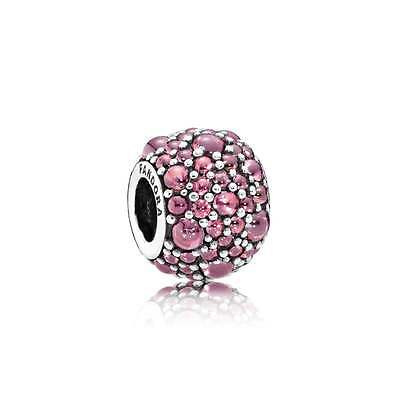Genuine PANDORA Silver S925 ALE Red Pave Shimmering Droplets Charm 791755HCZ