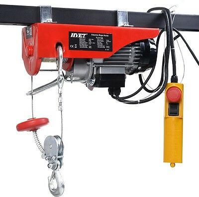 Engine Hoist Garage Mechanic Electric Tools Wood Weight Winch Lifting Havy Duty